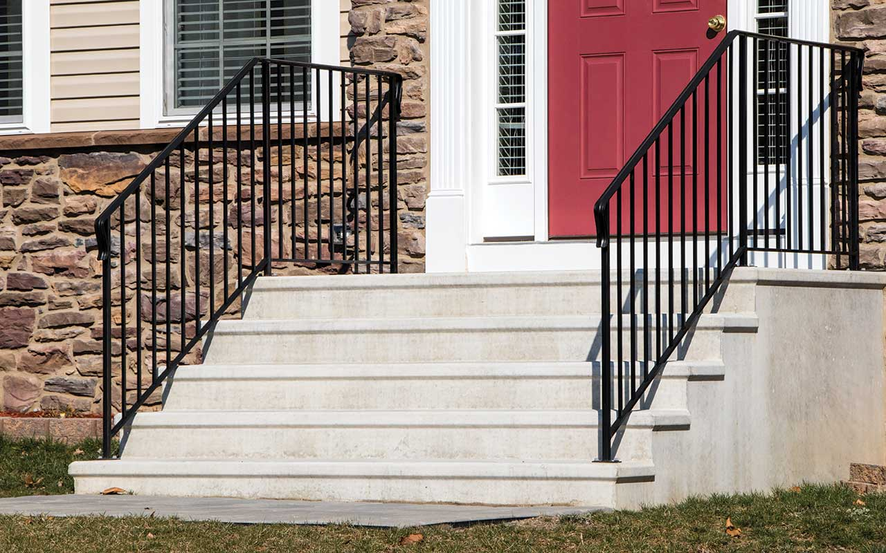 Masters Concrete Step Units - With Standard Rail