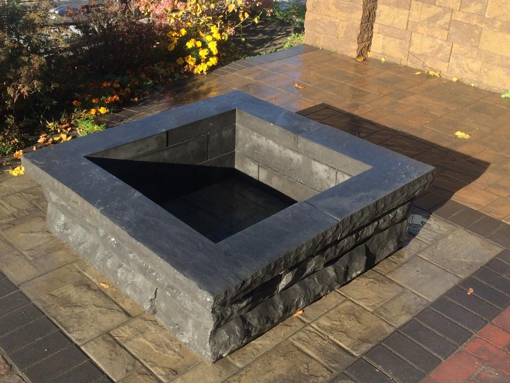 Square Concrete Fire Pit - Aumondeduvin.com